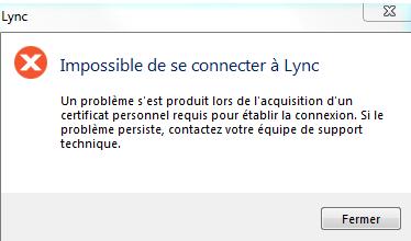 Erreur Lync - 1