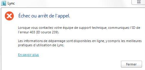 Erreur Lync - 3