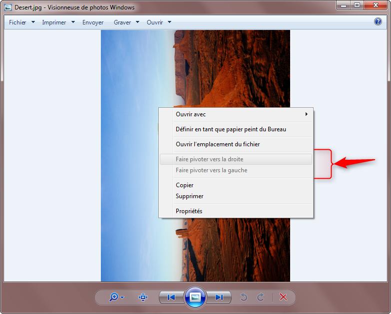 Visionneuse de photos Windows – Problème fonctions de rotation grisées 1