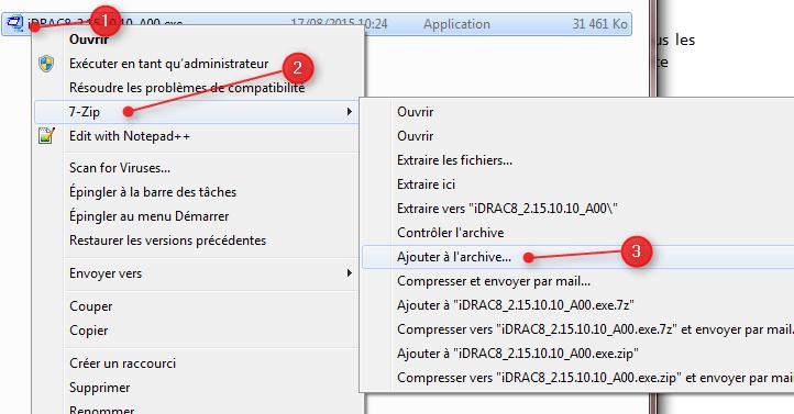 Diviser fichiers avec 7Zip 2