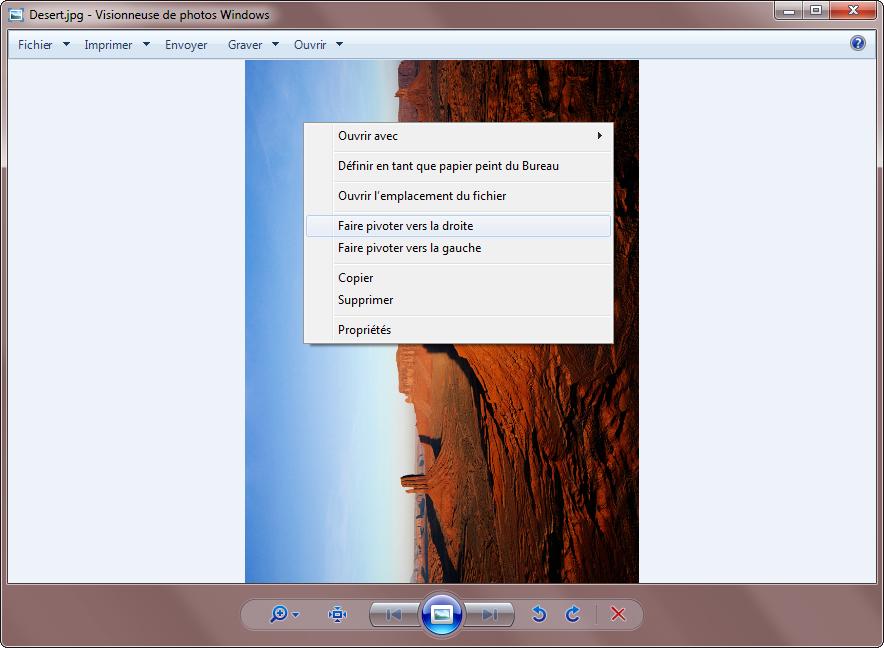 Visionneuse de photos Windows – Problème fonctions de rotation grisées 4