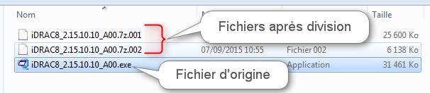Diviser fichiers avec 7Zip 5